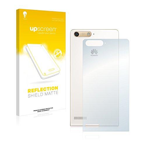 upscreen Entspiegelungs-Schutzfolie kompatibel mit Huawei Ascend P7 Mini (Rückseite) – Anti-Reflex Bildschirmschutz-Folie Matt