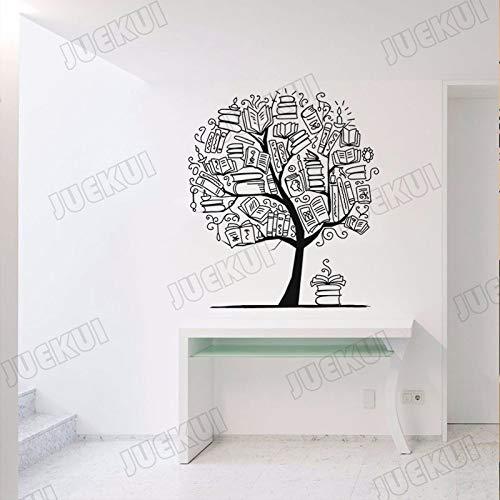 YuanMinglu Buch zusammensetzung Baum entfernbare wandaufkleber kindergartenkinder lesesaal Blume Wohnzimmer Kunst Poster schwarz 57X66