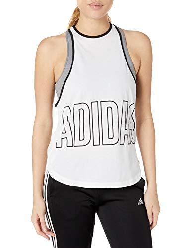 adidas Women's Alpha Tank Graphics White Large