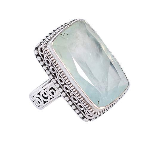 Ravishing Impressions Jewellery 0.925 plata de ley radiante Green Prehnita