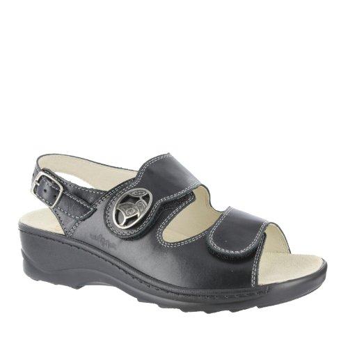 Fidelio Damen Sandale Soft-Line Schwarz Denver 23441 70, (37 EU, Schwarz)