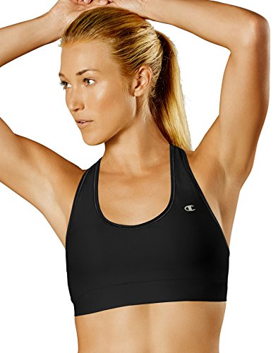 Champion Women's Absolute Sports Bra with SmoothTec Band, Black, Large