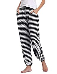 ★SO COMFY★ - Pyjama bottom for women made from 100% cotton, soft, breathable, high elasticity and skin-friendly. ★TWO SIDE POCKETS★ - This comfortable pair of lounge pants feature two side pockets deep and wide enough to HOLD YOUR CELL PHONE or other...