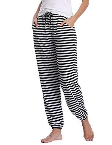 Abollria Pantalones de Pijama Mujer Largos de Suave,Comodo y Moderno,Pantalones Deportivos Casuales
