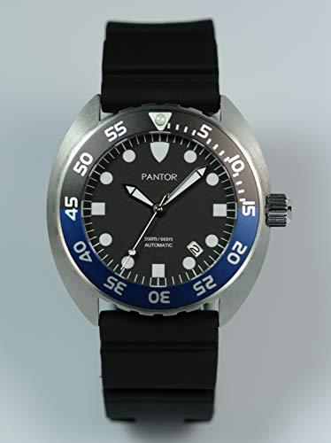 Orologi subacquei Pantor Nautilus 200m Big Size 45mm automatico Pro Diver orologi con lunetta rotante zaffiro e cinturino in gomma