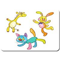 バスマット 玄関マット 足ふきマット,子供のおもちゃ3つの面白い色とりどりの作品,滑り止め ソフトタッチ 丸洗い 洗濯 台所 脱衣場 キッチン 玄関やわらかマット 40 x 60cm