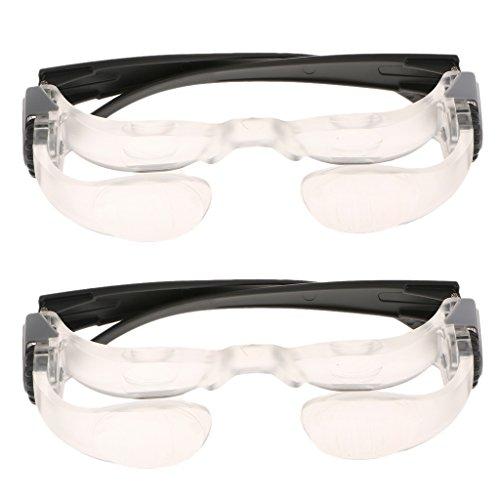 Gazechimp Gazechimp 2 Stk. Vergrößerung Glas 2.1 facher Vergrößerung Lupe Optische Glaslinse Fernsehbrille