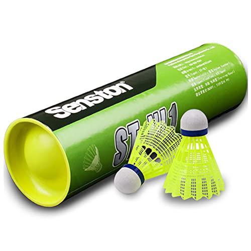 Senston Badminton Bälle 6 Stück / 12 Stück Nylon Federball Indoor Outdoor Federbälle Sport Badmintonbälle