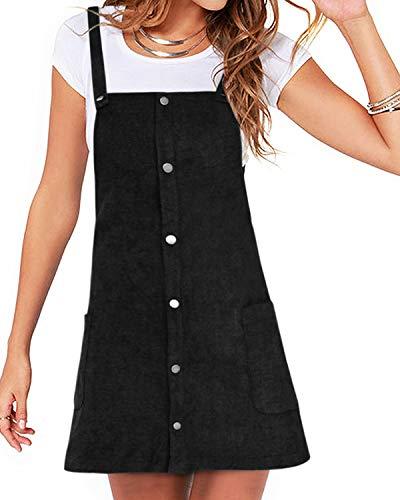 YOINS Rock Damen Mädchen Minirock Kawaii A Linie Mini Skater Rock Kleider für Damen Minikleid Skaterkleid A-schwarz M
