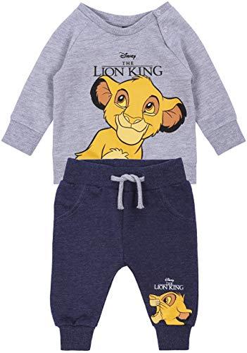 Grijs-donkerblauwe baby trainingspak Lion King Disney