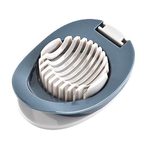 Multifunktionaler Eierschneider Sicherer und langlebiger PP-Kunststoff Leicht zu reinigender Edelstahldraht Komfort, grau-blau BCVBFGCXVB