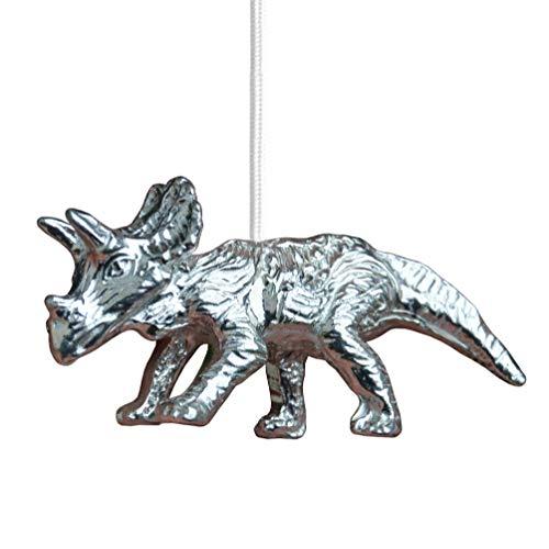 William Sturt - Tirador de luz de dinosaurio, Tricerotops, extractor de ventilador de tricerotops, tirador de persiana de dinosaurio, hecho a mano