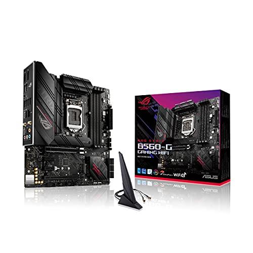 ROG STRIX B560-G GAMING WIFI - Placa base micro-ATX (Intel B560 LGA 1200 con VRM de 8+2 fases, PCIe 4.0, Cancelación de ruido IA, WiFi 6, 2.5 GB Ethernet, 2 ranuras M.2, USB 3.2 Gen 2 x 2 y Aura Sync)