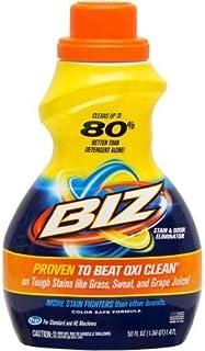 PACK OF 6 - Biz Laundry Stain & Odor Eliminator, 50 fl oz