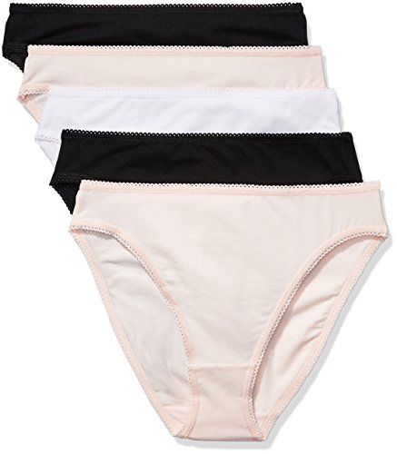 Marca Amazon - Iris & Lilly Braguita Mujer, Pack de 5