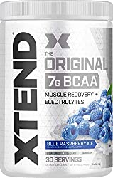 XTEND Original BCAA Powder Blue Raspberry Ice - Sugar Free Post Workout Muscle Recovery Drink with A