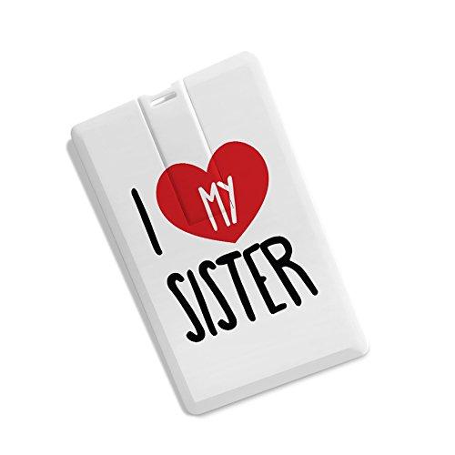 100yellow® Credit Card Shape I Love Sister Print High Speed 32Gb Pen Drive