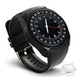 Bluetooth Smart Watch Touchscreen Wrist Watch Unlocked Watch Fitness Tracker Facebook Call Sync Smartwatch with SIM Card Slot Compatible with Android Samsung Galaxy S10 S9 S8 S7 LG Men Women Gift