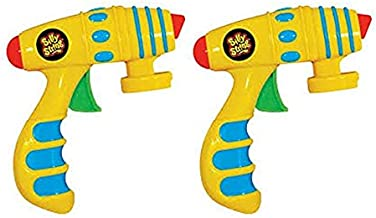 Silly String Toy Blaster Guns - Set of 2 Shooters - Attaches To All Cans of Silly String Streamers (Cans Sold Separately)
