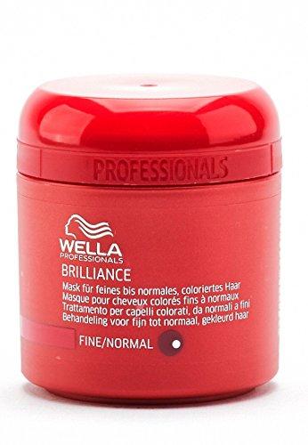 Wella Professionals Brilliance unisex, Mask für feines bis normales, coloriertes Haar, 150 ml, 1er Pack, (1x 1 Stück)