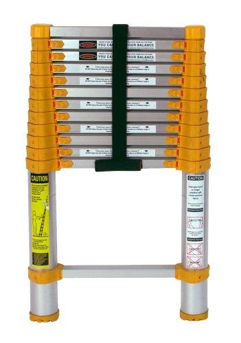 Xtend & climb 770p telescoping-ladders, 12. 5 ft, yellow/gray