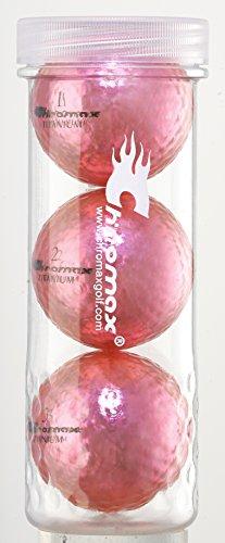 Chromax Golfbälle M1X, Orange, 3 Stück, Unisex, M1X Golf Balls 3 Pack - Pink, Rose, Einheitsgröße