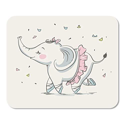 Mädchen niedlichen Elefanten Ballerina tanzen Cartoon Baby Feier Gruß Home School Game Player Computer Arbeiter MouseMat Mouse Padch