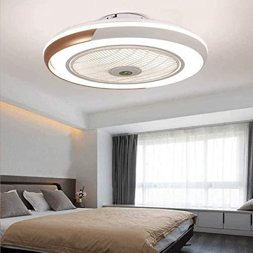 Ventilador De Techo 60W LED Lámpara Creative Regulable Ventilador De Techo Invisible Lámpara Luz De Techo Del Ventilador De Bajo Ruido Adecuado Para Sala De Estar Dormitorio Habitación Infanti