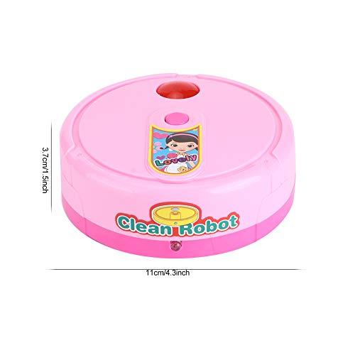 Yivibe Juguete eléctrico Play House, barredora de música, para niños, niños pequeños, bebés(Pink)
