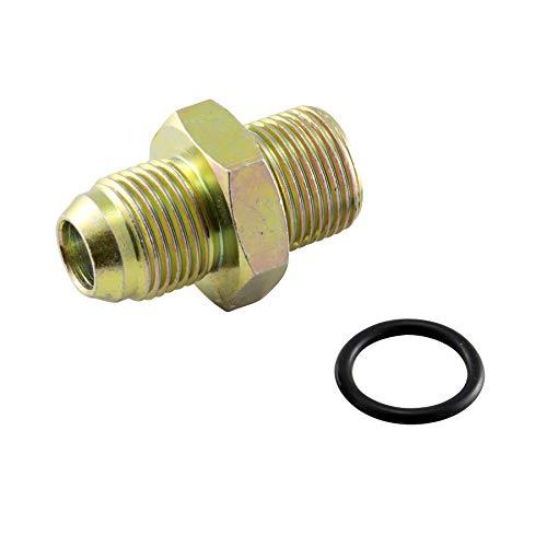 AN8 Gewinde Adapter für Ölfilter Sandwich Platte mit Thermostat Bolzen Schraube