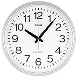 CASIO(カシオ) 掛け時計 電波 シルバー 直径30.5cm アナログ 夜間秒針停止 IQ-482J-8JF