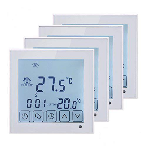 BEOK TDS23-EP Digitales Raumthermostat mit großem Touchscreen, für Fußbodenheizung von Elektro-Zentralheizung