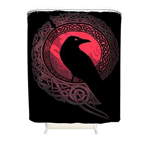 Viking Ravens In Norse Badezimmerzubehör Stilvoll Bedruckt für Badezimmerdekoration White 150x200cm