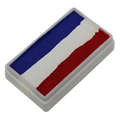 TAG Face and Body Paint - 1 Stroke Split Cake 30g - Red, White, Blue