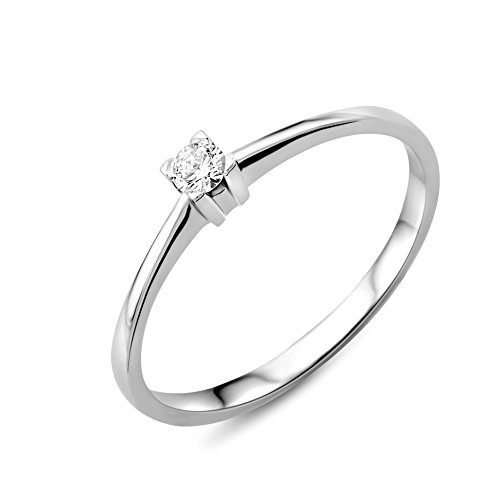 Miore - Solitario oro y diamante 0.07 ct, talla 14