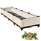 80cm / 120cm / 160cmロングガーデンレイズドベッド、春/夏の植栽のための耐久性プランターボックス、ホワイト、簡単に組み立てるために、 (Size : 160×40×23cm)