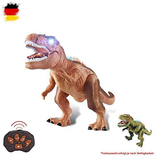 HSP Himoto XXL RC Dinosaurio teledirigido T-Rex, Aprox. 50 cm de Alto, función de Andador, Efectos de Sonido y luz con Control Remoto.