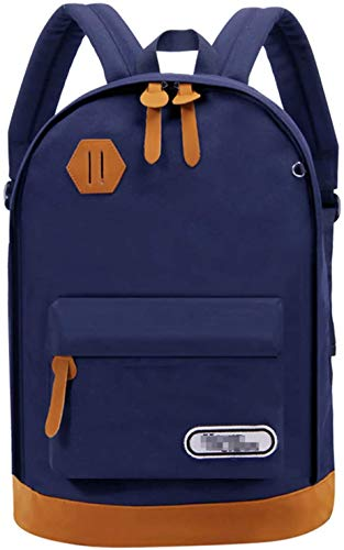 MQJ Unisex College Bag Bookbags for Women Men Laptop Casual Rucksack School Backpack Daypacks,Blue,18Inch
