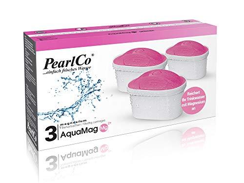 PearlCo Magnesio unimax - Pack 3 Filtro de Aguas (Compatible con Brita Maxtra)