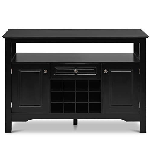 Giantex-Buffet-Server-Wood-Cabinet-Sideboard-Cupboard-Table-Kitchen-Dining-Room-Restaurant-Furniture-Wine-Cabinet-with-Wine-Rack-Open-Shelf-Drawer-Cabinets-Black