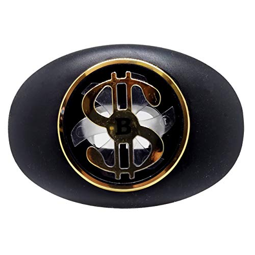 Battle Money Spinner Oxygen Football Mouthguard - Black/Gold