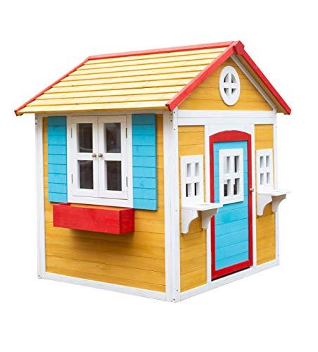 | MASGAMES | Casita de madera VISBY | Casita de madera tratada para el exterior | homologada para uso doméstico |