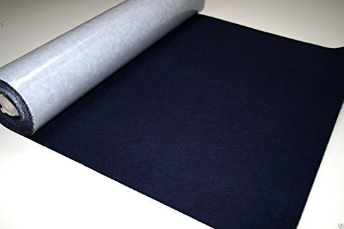 2 Mtrs x 450mm wide roll of NAVY BLUE STICKY BACK SELF ADHESIVE FELT BAIZE