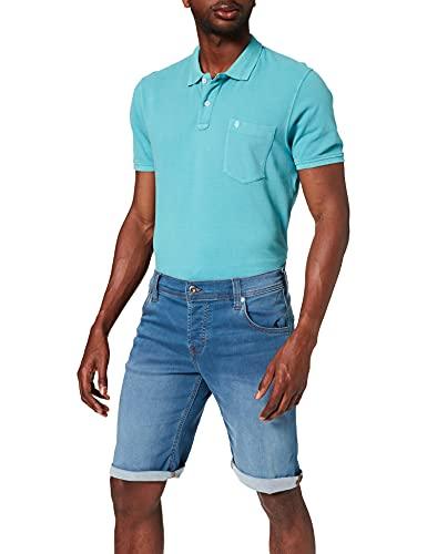 Mustang Chicago Short Pantalones Jean, Azul Medio, 35W (Corto) para Hombre