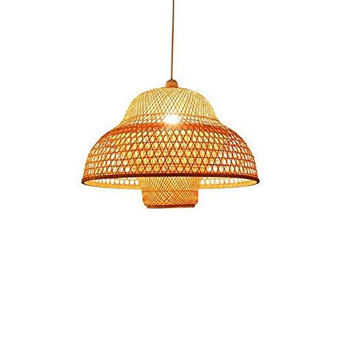 Lámpara de lámpara de ratán Vintage Lámpara de Techo de Restaurante Vintage Luz suspendida Casa de té Comedor Lámpara de bambú Linterna de Sushi Vintage Luz Colgante de Cocina