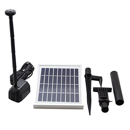 ASC Solar Water Pump Kit for Fountain Pool and Pond (2.5W No Battery)