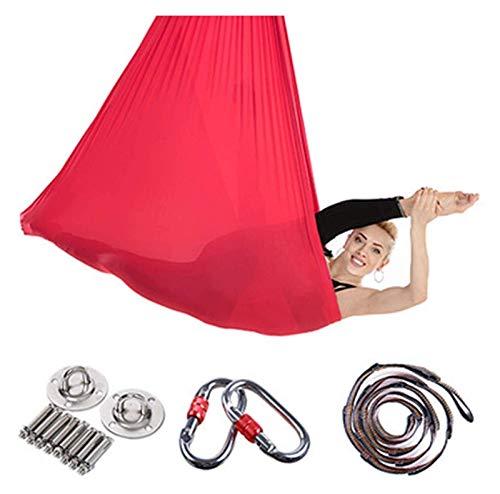 AYCPG Yoga aérea Hamaca, Durable elástico aérea Hamaca Yoga Swing de Fitness de Accesorios de Entrenamiento, cadenita de Yoga antigravedad Pilates lucar (Color : C)