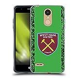Head Case Designs Licenciado Oficialmente West Ham United FC Inicio Portero Kit de Escudo 2021/22 Carcasa de Gel de Silicona Compatible con LG K8 / K9 (2018)