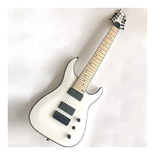 CHENTAOMAYAN Accesorios Profesionales, Blanco 8 Cuerdas de la Guitarra eléctrica con la unión de celuloide Profesional (Size : 39 Inches)