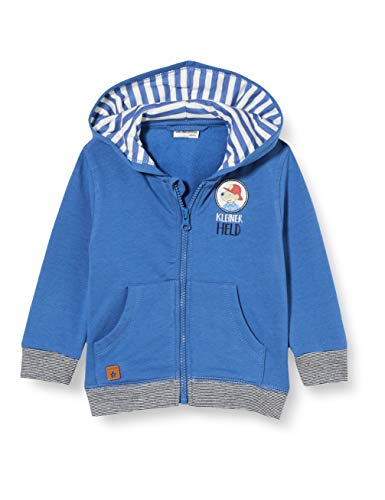 Salt & Pepper Baby-Jungen 05218128 Strickjacke, mid Blue, 74